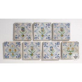 17th Century Tulip In Diamond Tiles #B7