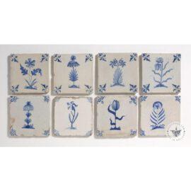 17th Century Delft Blue Flower Tiles #B8
