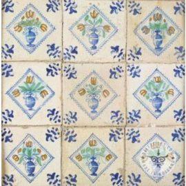 17th Century Flower Pot Tiles #B9