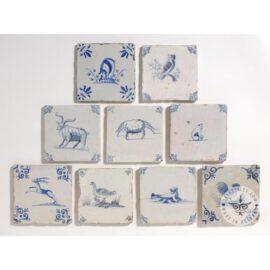 Delft Blue Elephant Lion Ox Tiles  #D35