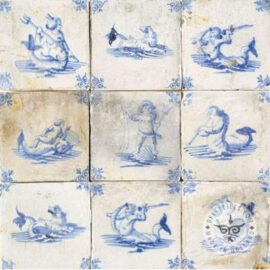 Mermaid Mermen Decorated Tiles #S7