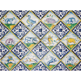 Polychrome Animals In Square Tiles (DK_mc)