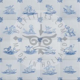 Delft Blue Mermaid Mermen Tiles (TMS11)
