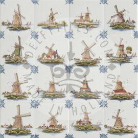 Multi Color Dutch Windmill Tiles (TML8)