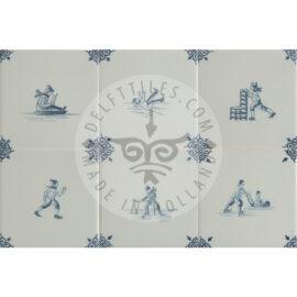 Ice Skating Fun Decorated Tiles (TMF9)