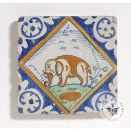 Poly Chrome Elephant Tile #PC7