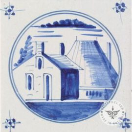 18th Century Landscape Tile #L9