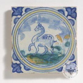 17th Century Delft Camel Tile  #D18