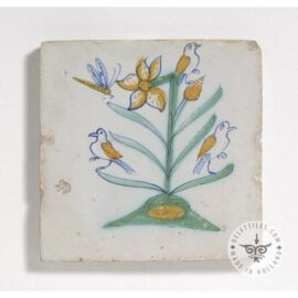 Flower Bird Insect Decorated Tile #PC11