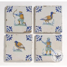 Four Rare 17th Century Tiles #PC12