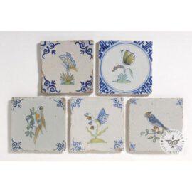 Butterfly & Bird Delft Tiles  #D37