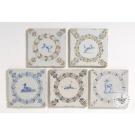 Decorative Antique Delft Animal Tiles  #D21
