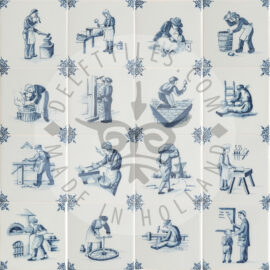 Delft Blue Crafts Decorated Tiles (TMA15)