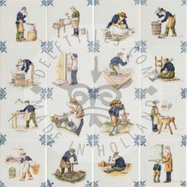 Multi Color Crafts Decorated Tiles (TMA16)