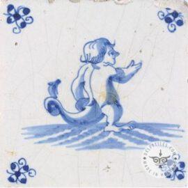 Mythology Old Blue & White Tile #S20