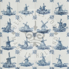 Delft Blue Dutch Windmill Tiles (TML7)
