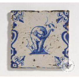 Antique Delft Elephant Tile  #D22