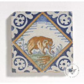 Multi Color Antique Elephant Tile #PC20