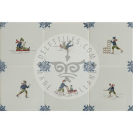 Ice Skating Fun Colored Decorated Tiles (TMF10)
