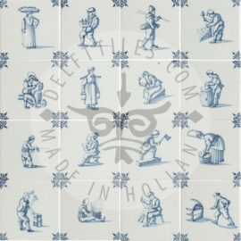 Delft Blue Crafts Decorated Tiles (TMA1)