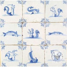 Mythology Old Blue & White Tiles #S21