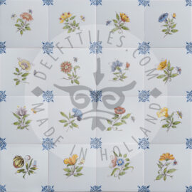 Small Colored Flower Tiles (TMB4)