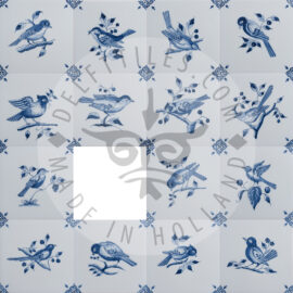 Delft Blue Decorated Bird Tiles (TMB5)
