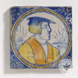 Portrait In Circle Ceramic Tile  #PC26