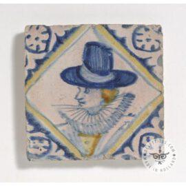 Portrait In Circle Ceramic 17th Century Tile  #PC27