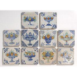 Collection Antique Dutch Fruit Bowl Tiles #B26