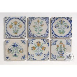 Six 17th Century Antique Dutch Tiles #B20
