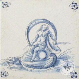 Old Mythological Dutch Tile #S25