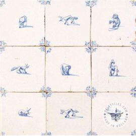 Nine Antique Animal Tiles  #D24