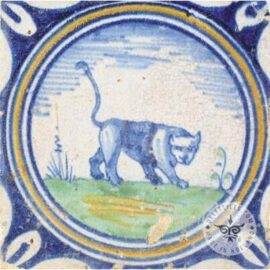 Panther 17th Century Old Tile  #PC29