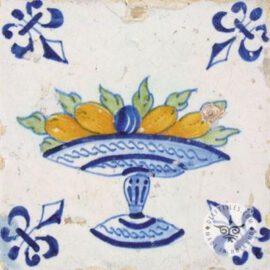 Polychrome 17th Century Fruit Bowl Tile #B11