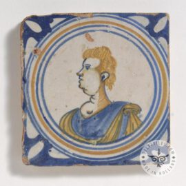 Young Man 17th Century Old Tile  #PC32
