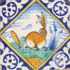 Rabit 17th Century Old Tile  #PC33
