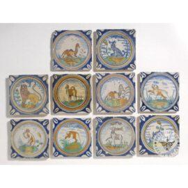 17th Century Polychrome Delft Tiles  #D27