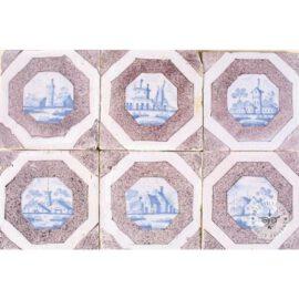 Sepia & Blue Landscape Tiles #L13
