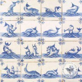 Old Mythological & Fish Tiles Dutch #S28