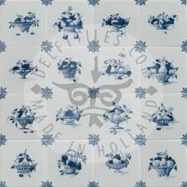 Fruit Bowls & Baskets Delft Blue Tiles (TMB7)