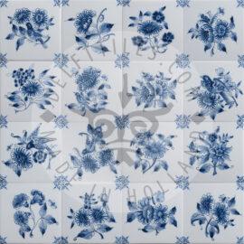 Big Decorated Flower Tiles (TMB1)