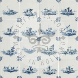 Blue And White Landscape Tiles (TML1)