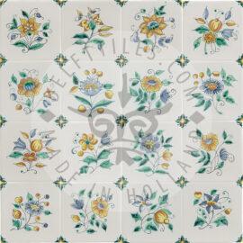 Elegant Multi Color Flower Tiles (TME6)