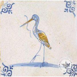 Stork On Tile Delft Tiles  #D29