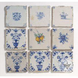 Nine Various Antique Tiles #B22