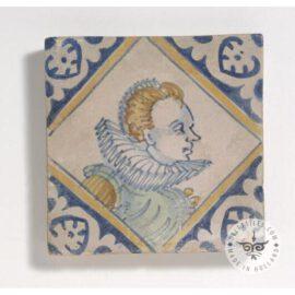 Woman Portrait Tile  #PC44