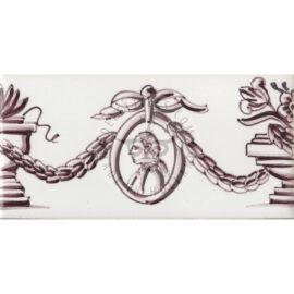 Border Tile 28 – Bust In Medallion