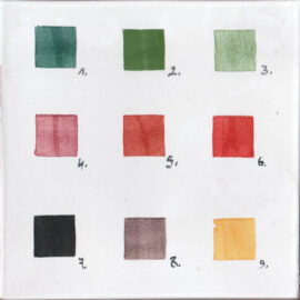 Color Chart For Tiles Within This Section Only.